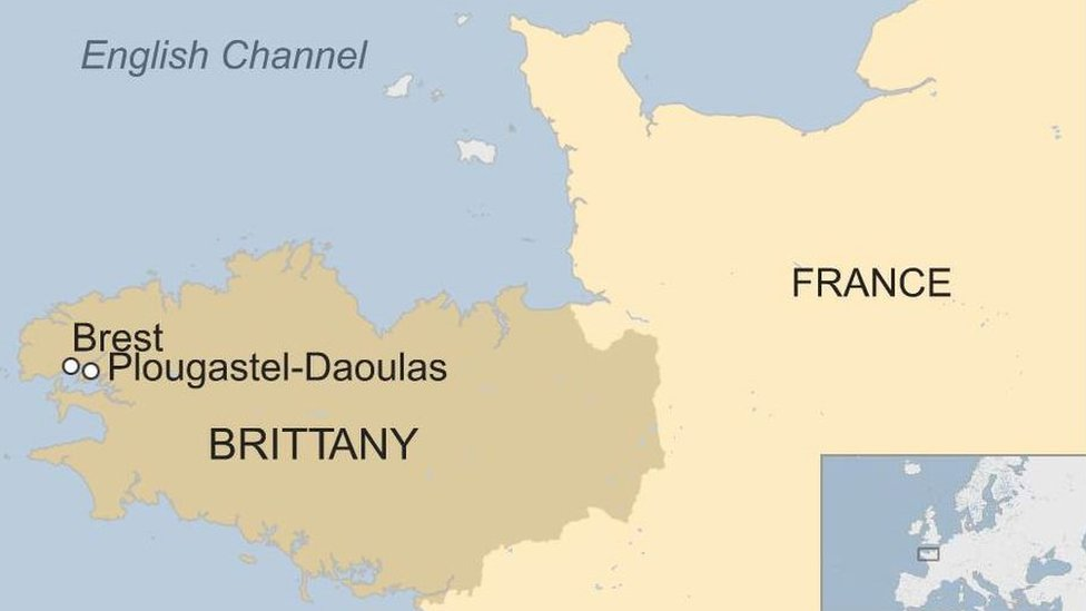 Brittany map