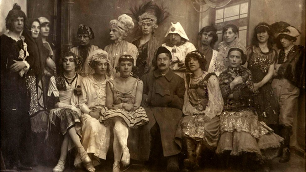 Gay wedding organised by Afanasy Shaur, 1921