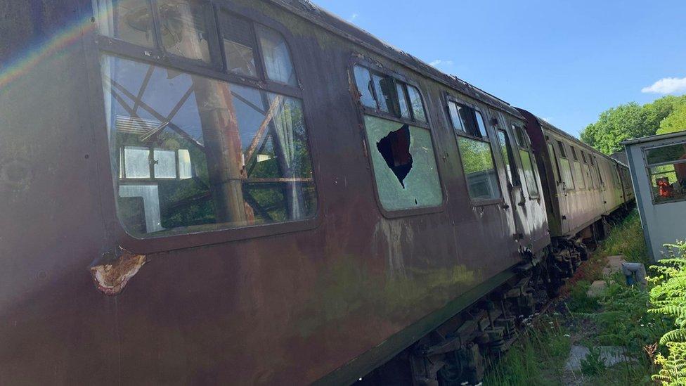 Midland Railway in Butterley had carriages vandalised in May