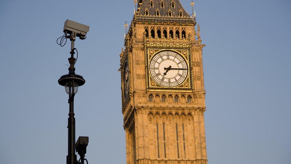 Big Ben and security camera