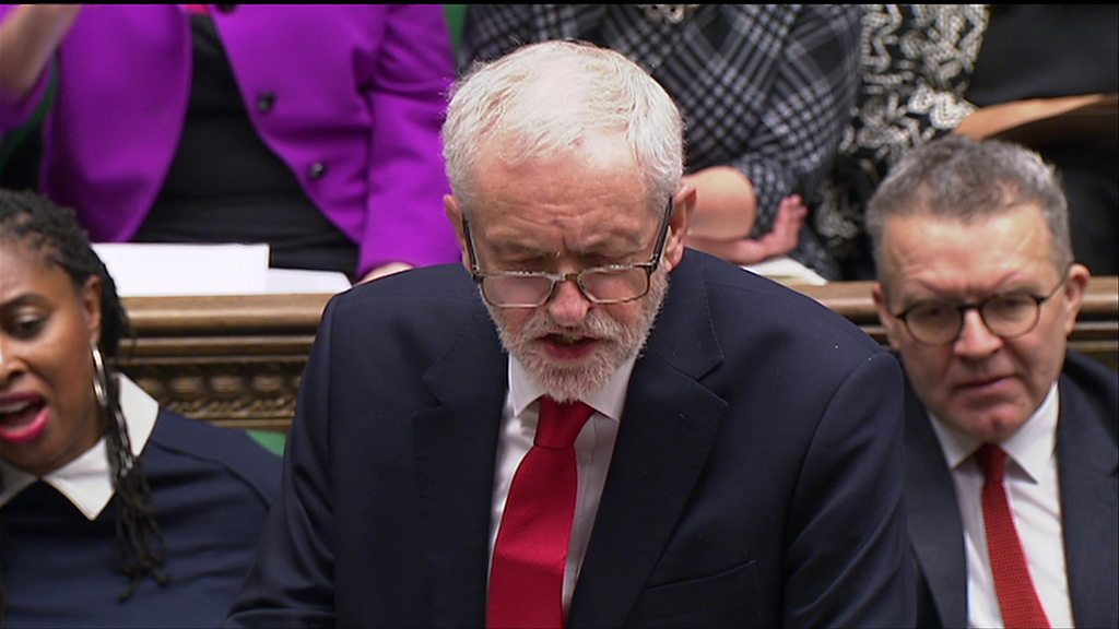 Jeremy Corbyn attacks Theresa May at PMQs
