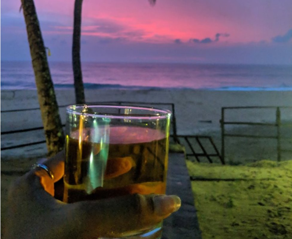 Arrack on the beach