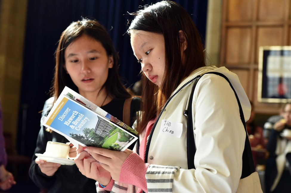 Chinese students at the university of Bradford a few years ago