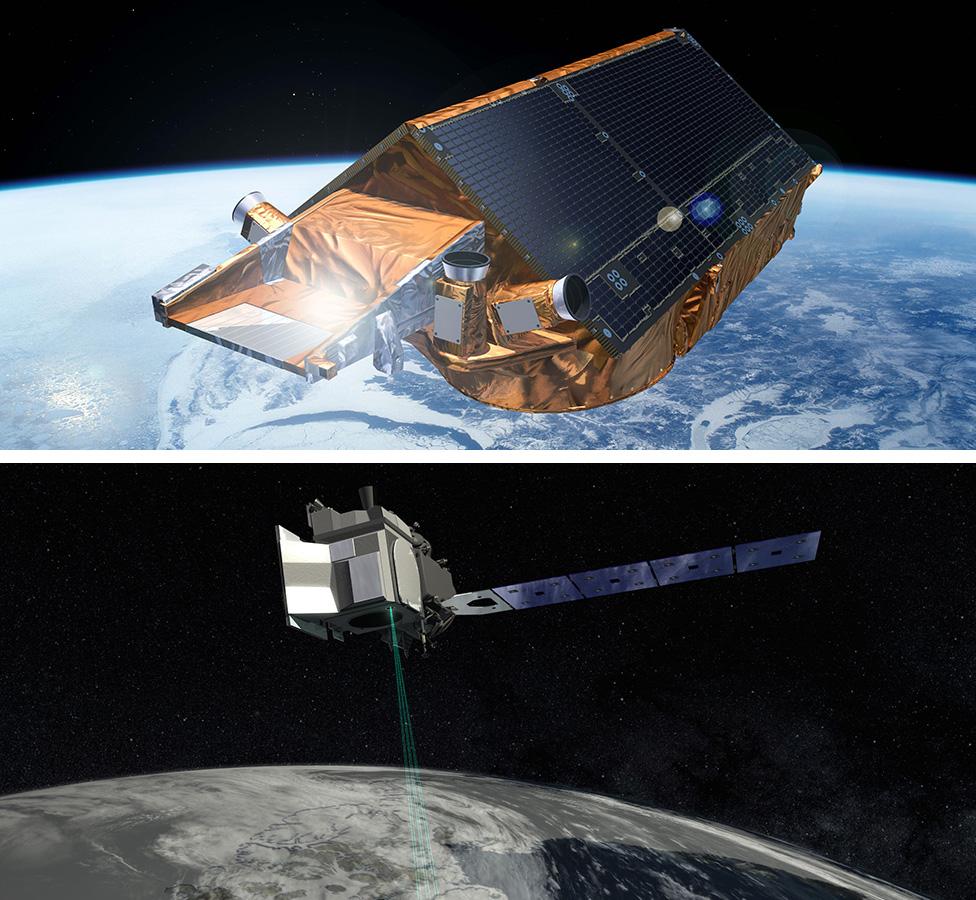 CryoSat-2 y IceSat-2