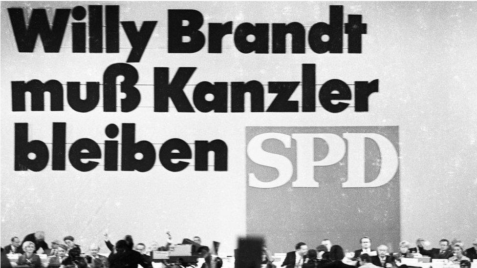 صورة عن مؤتمر الحزب الاشتراكي الديمقراطي عام 1972