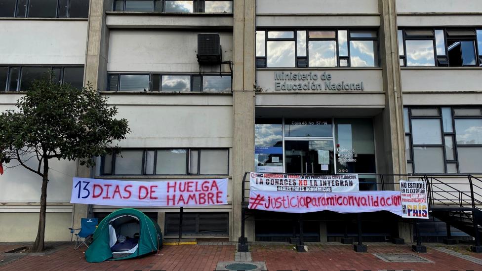 Fachada del Ministerio de Educación colombiano en Bogotá