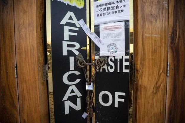 Usaha di Guangzhou, termasuk area yang populer di kalangan orang Afrika, ditutup karena takut virus corona.
