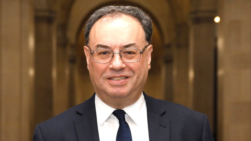 Bank of England governor Andrew Bailey