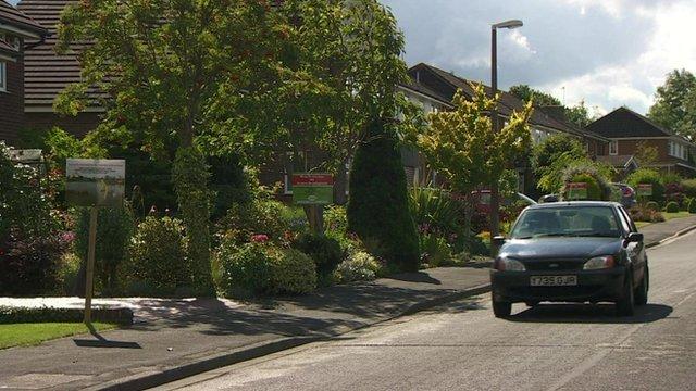 Lancashire village of Rae Green