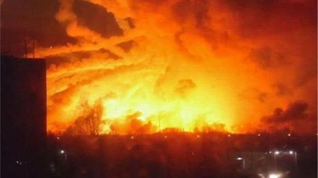 У 2017 році пожежа під Балаклією мала величезні масштаби