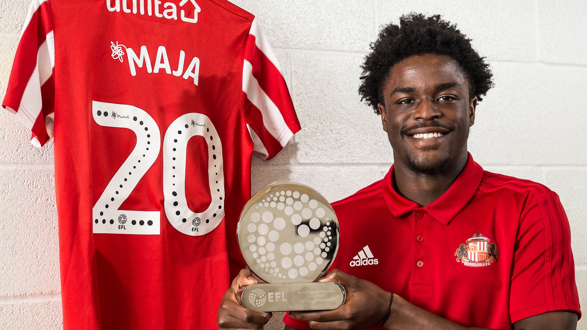 Josh Maja: Sunderland striker wins EFL Young Player of the Month award for August