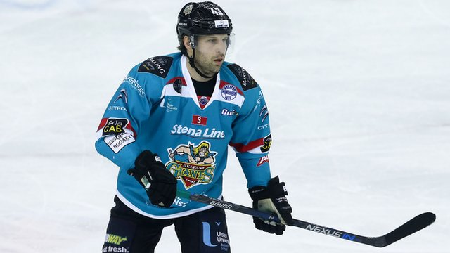 Belfast Giants player coach Derrick Walser