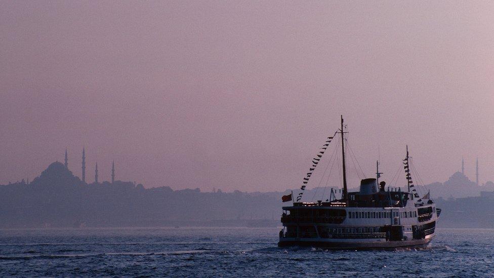 Estambul y el estrecho de Bósforo.