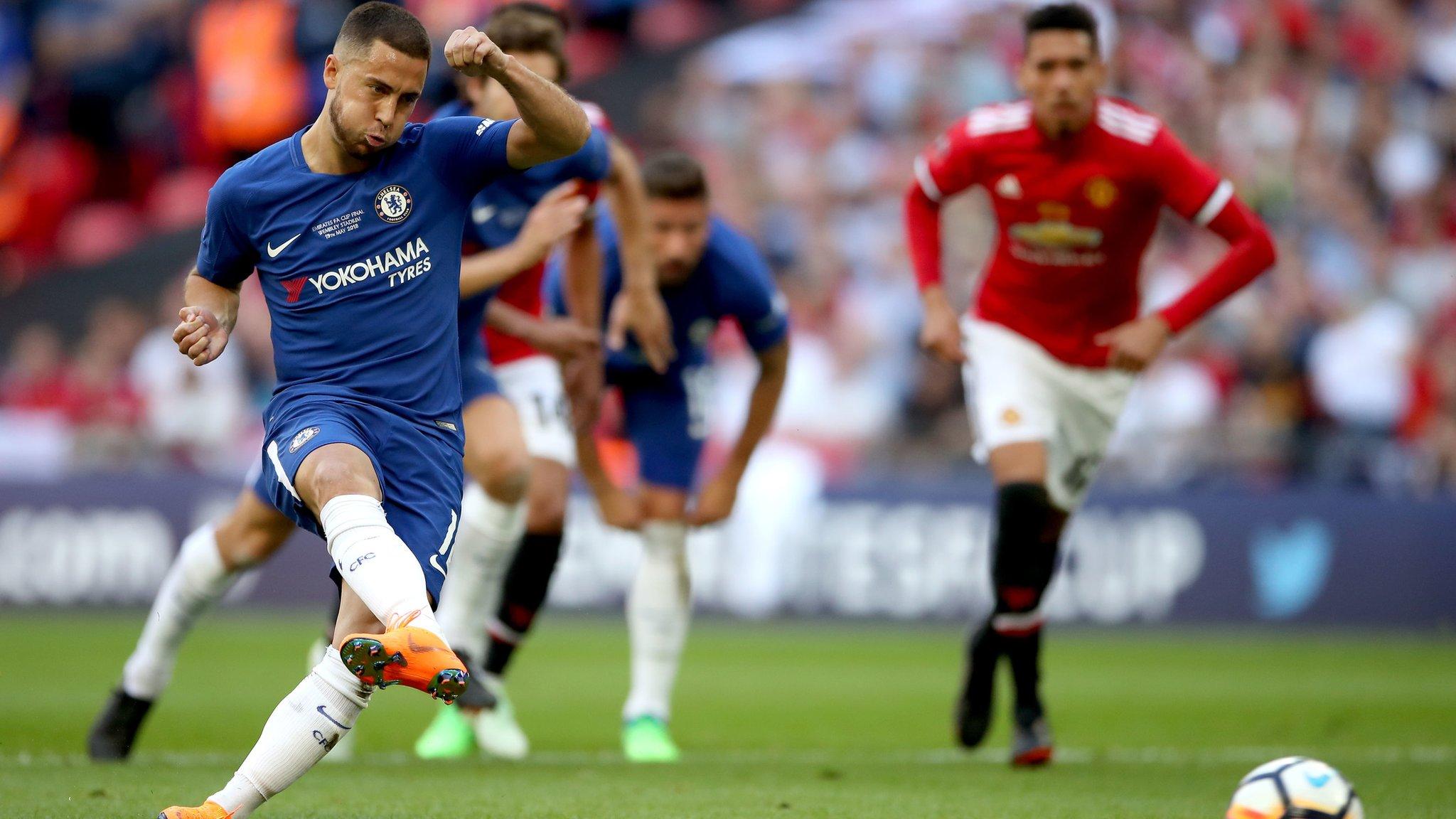 FA Cup final: Chelsea's Eden Hazard scores the winning goal v Man Utd