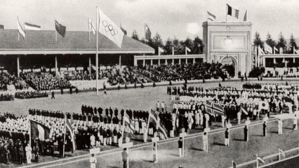 La inauguración de Amberes 1920