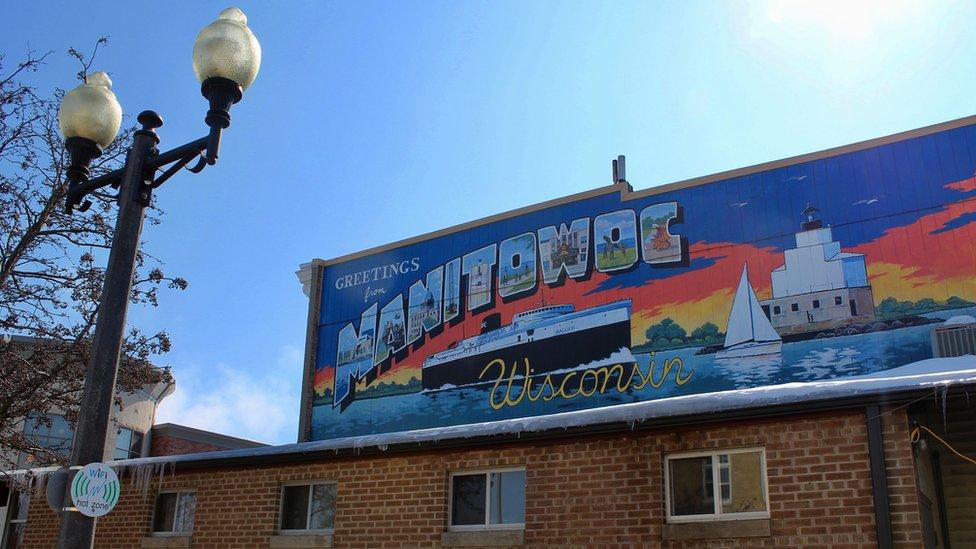 Mural u gradu Mantivok