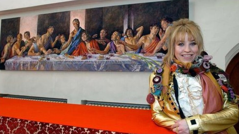 Lorna May Wadsworth with 'A Last Supper'