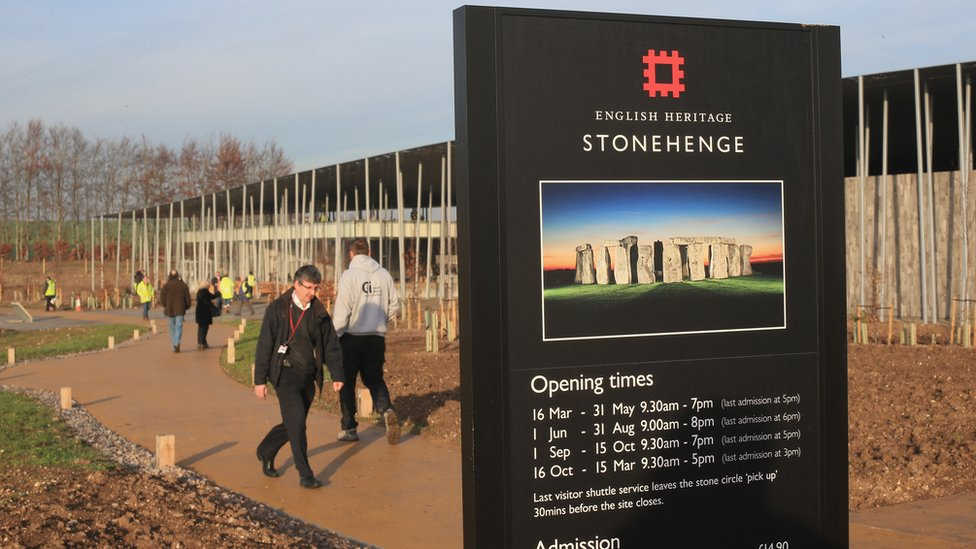 Engrance to Stonehenge visitor centre