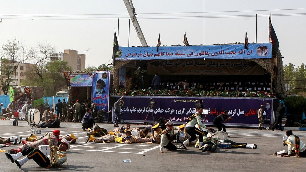 Iran military parade attacked by gunmen in Ahvaz