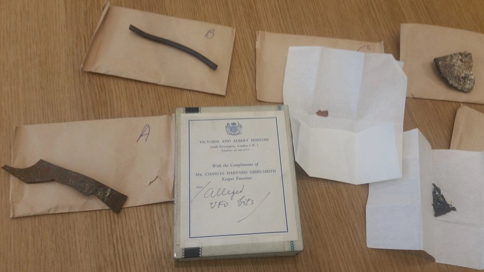 Items thought to be from the object found on Silpho Moor