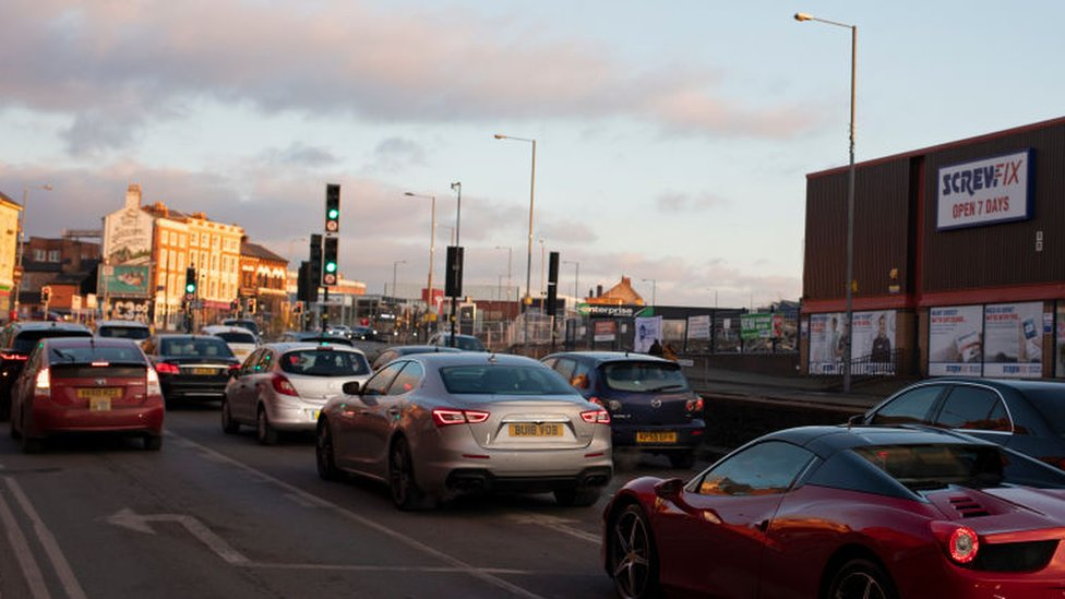 Traffic in Digbeth
