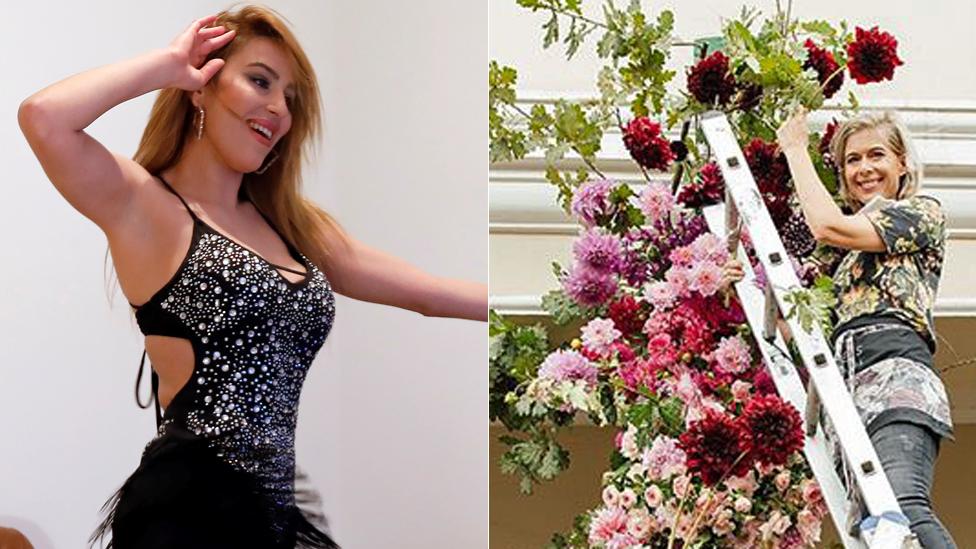 راقصة وبائعة زهور