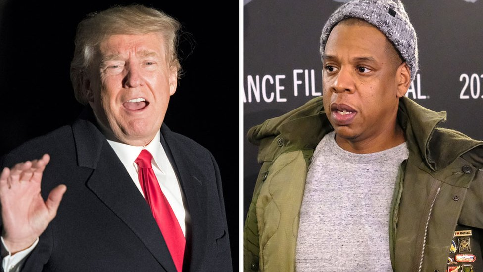 BBC News - President Trump hits back at Jay-Z over 'superbug' comments