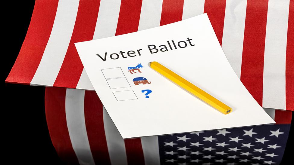 Una papeleta electoral en Estados Unidos