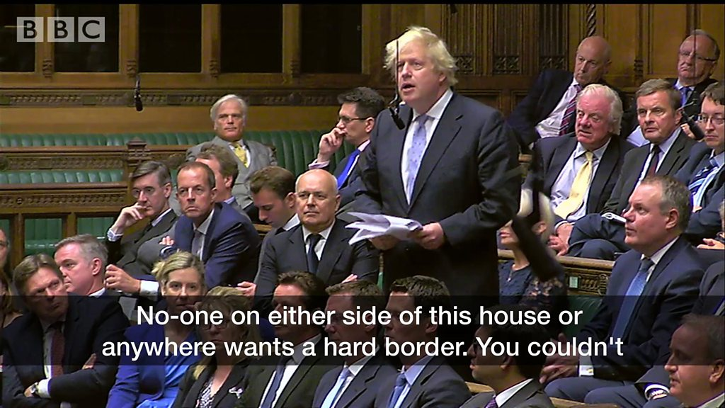 Boris Johnson criticises Brexit backstop in parliament