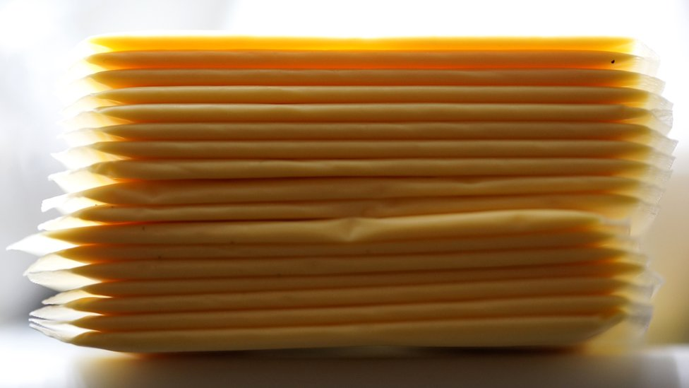 Slices of processed cheese