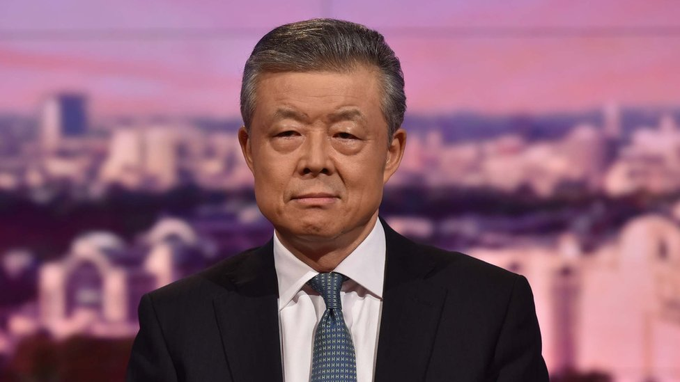 Liu Xiaoming interviewed by host Andrew Marr on BBC news and current affairs analysis programme, The Andrew Marr Show