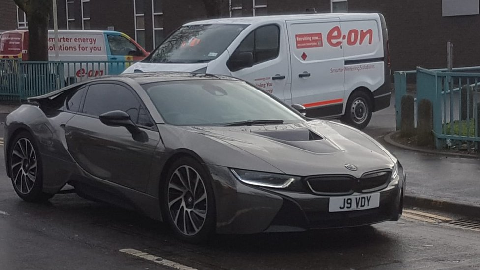 Jamie Vardy's car