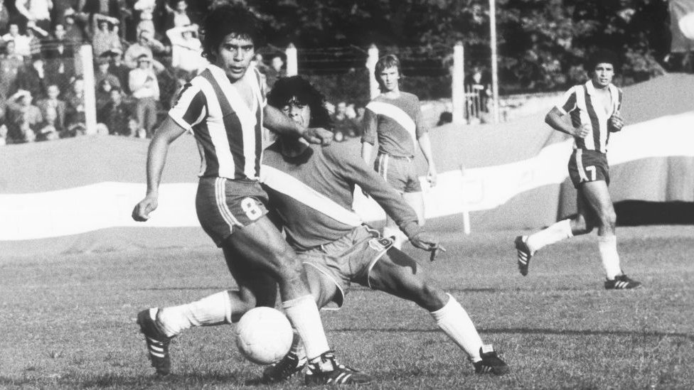 Maradona en 1978 con Argentinos Juniors.
