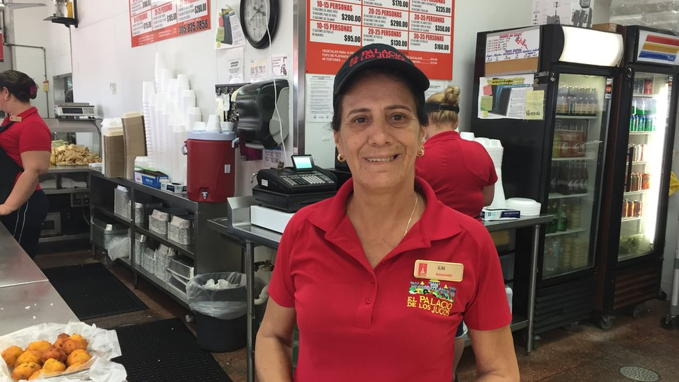 Alina Saavedra, cubana que vive en Miami.