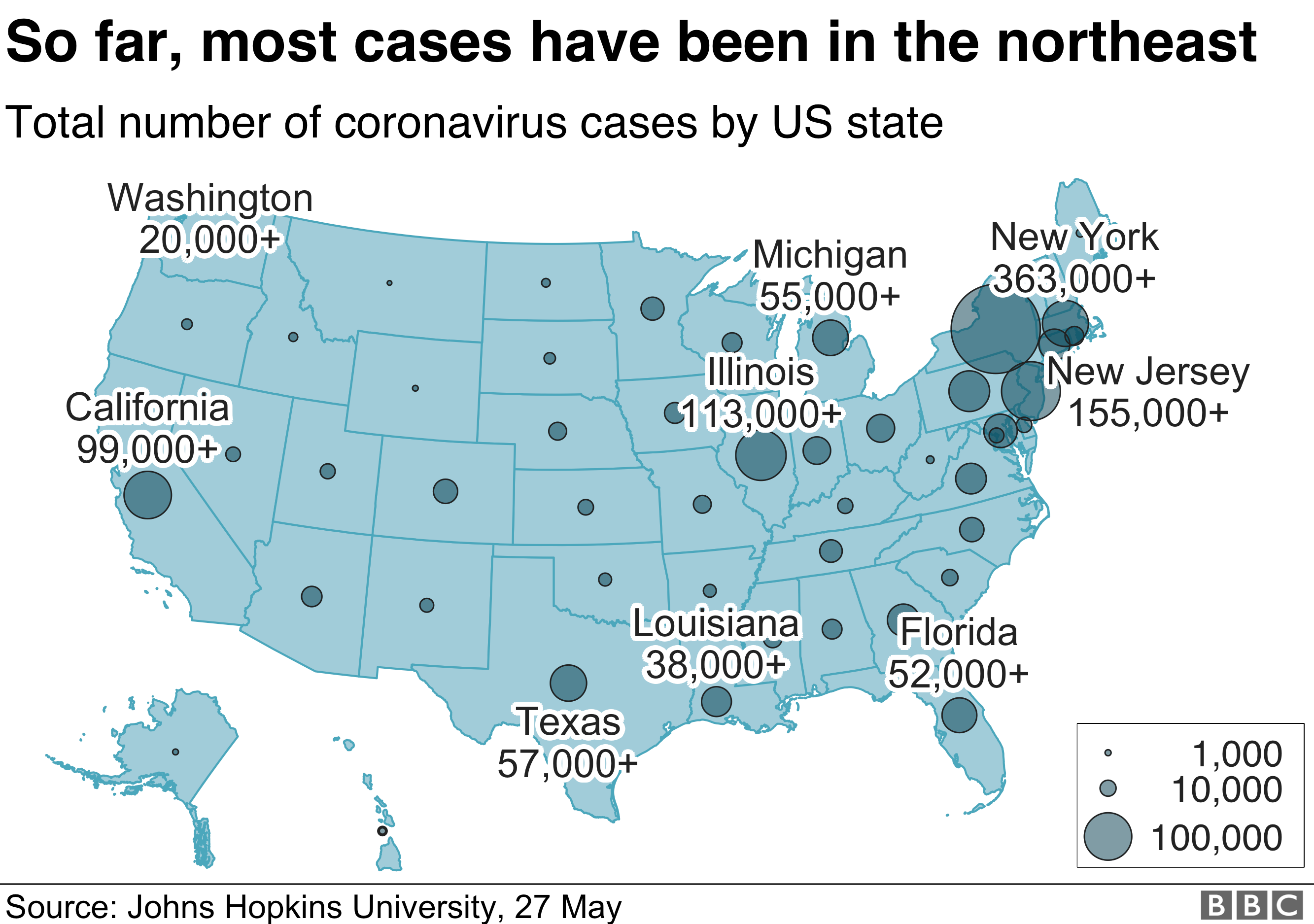 Coronavirus How The Pandemic In Us Compares With Rest Of World Bbc News