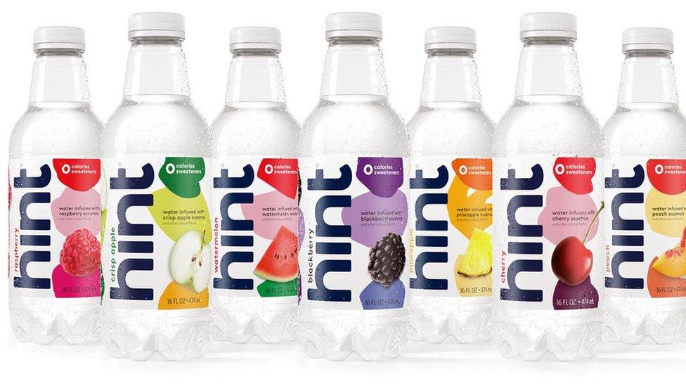 Botellas de Hint.