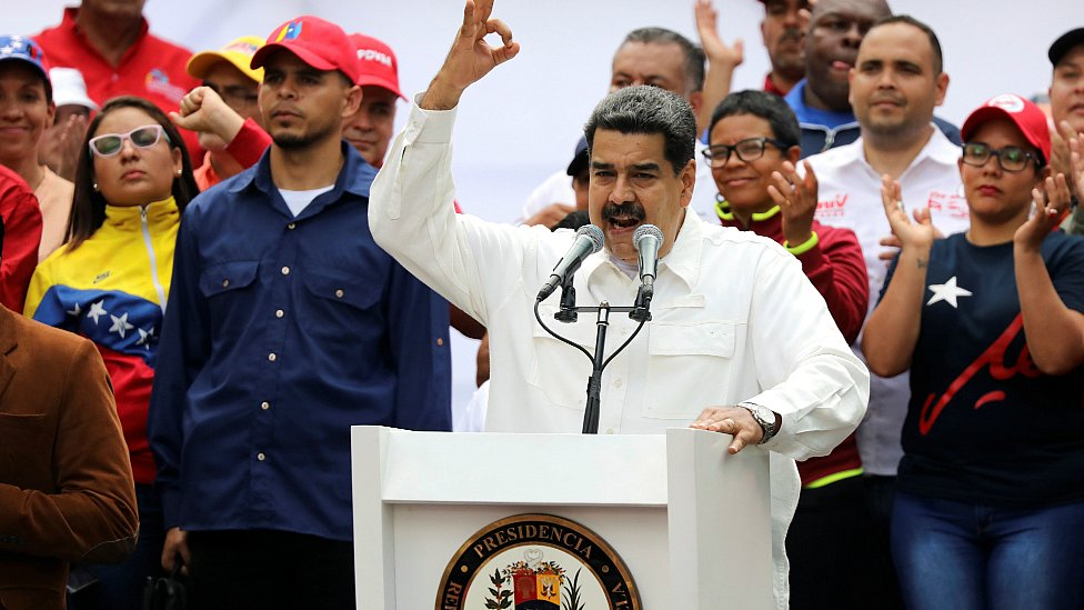 Venezuela's President Nicolas Maduro attends a rally in support of his government in Caracas, Venezuela March 9, 2019