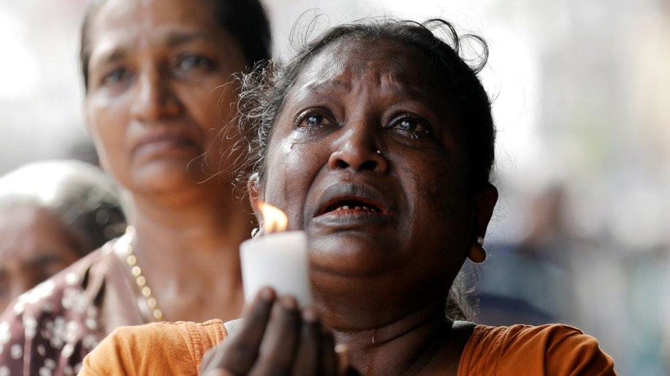 Ožalošćeni u Šri Lanki
