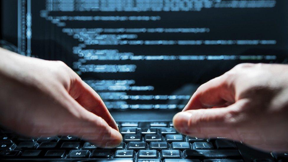 Hacker hands