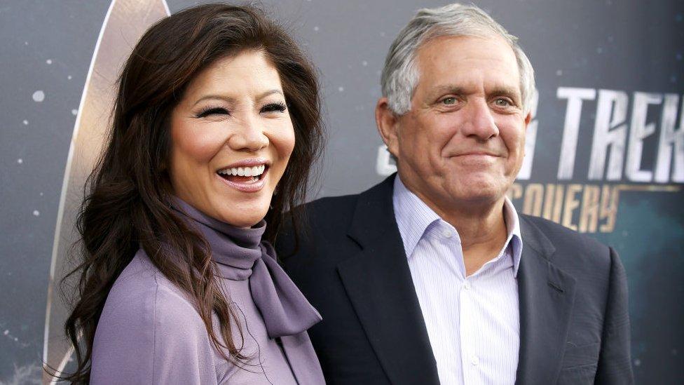 Les Moonves y su esposa y presentadora de CBS, Julie Chen.