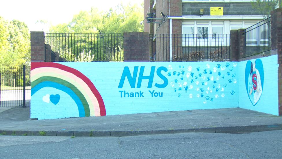 Mt Vernon NHS mural, north Belfast