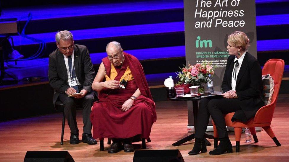 Dalai lama en Suecia.