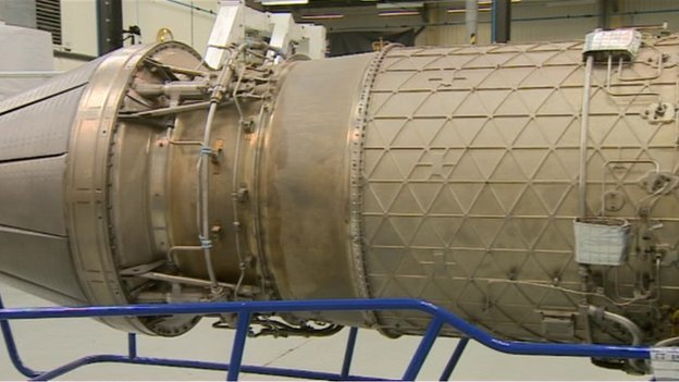 Part of Bloodhound Supersonic Car
