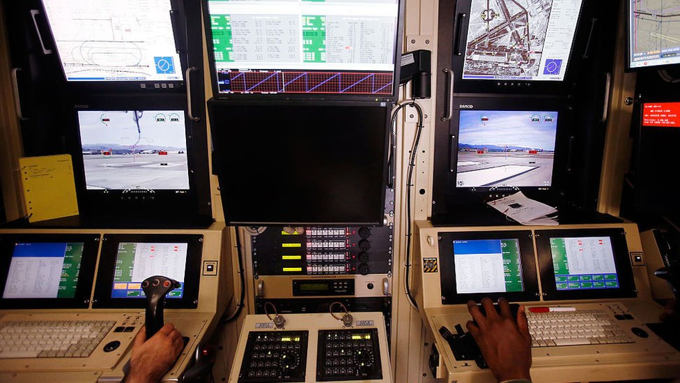 Drone operators at Creech Air Force Base