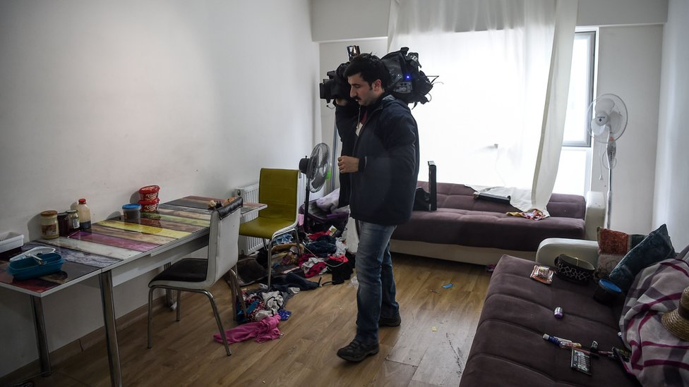 Flat where the alleged attacker of Reina nightclub was caught by Turkish police in Esenyurt area of Istanbul, Turkey, 17 January 2017