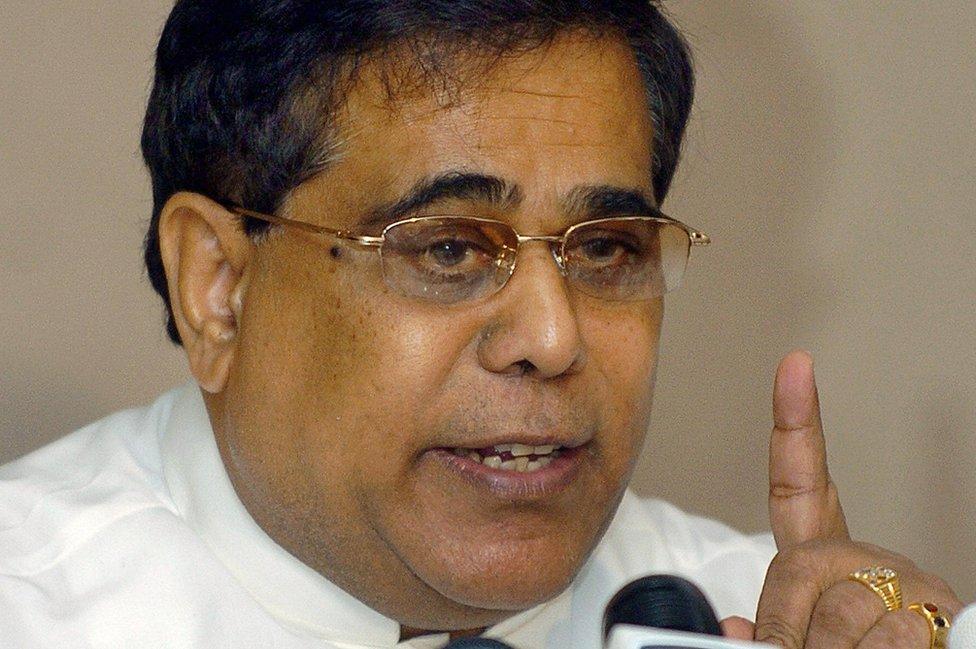Menteri Ketenagakerjaan Sri Lanka Siripala de Silva