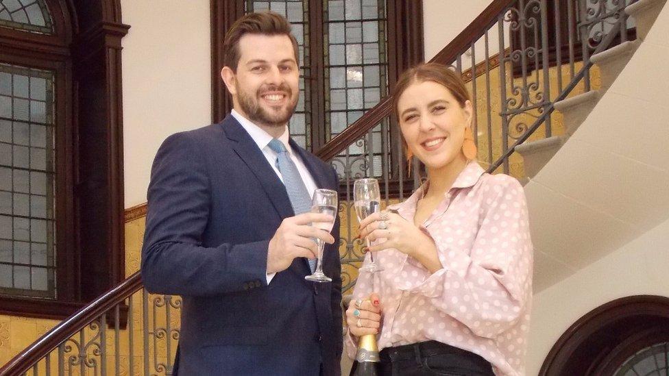 Gina Martin and her lawyer Ryan Whelan