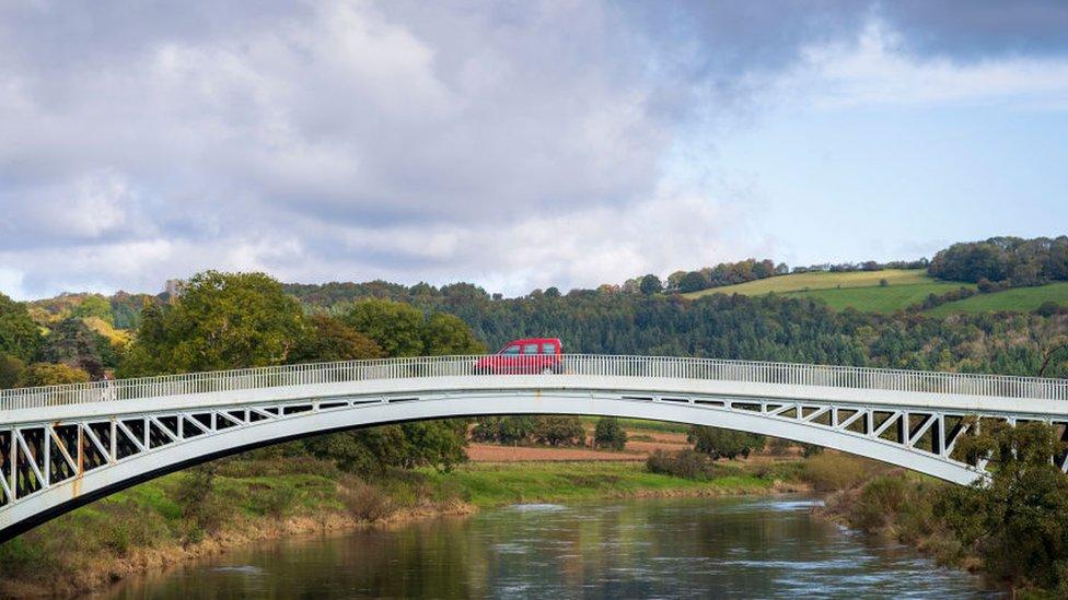 Bridge between Wales and England and Wye