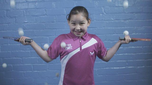 Nine year old table tennis sensation Anna Hursey