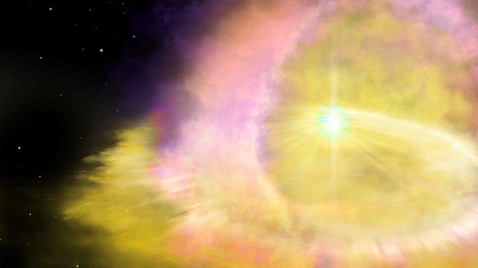 Una ilustración de una supernova